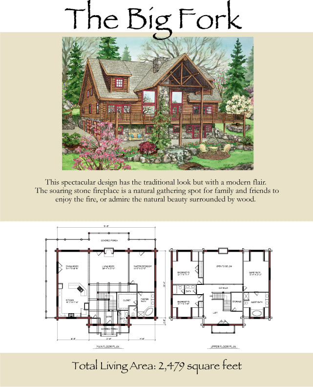 The Big Fork Log Cabin Floor Plan