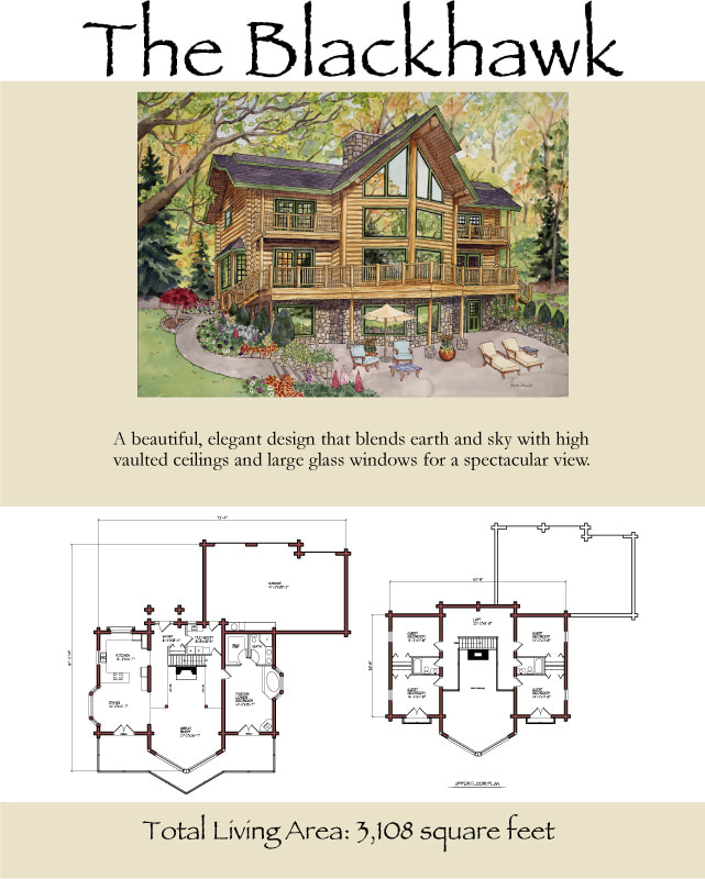 The Blackhawk log cabin floor plan