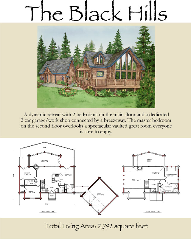 The Black Hills log home floor plan