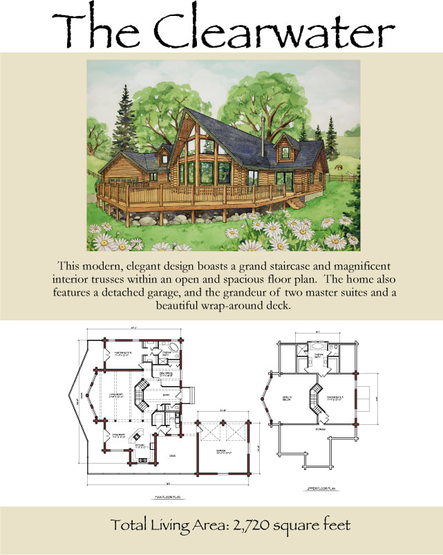 Clearwater log cabin floorplan