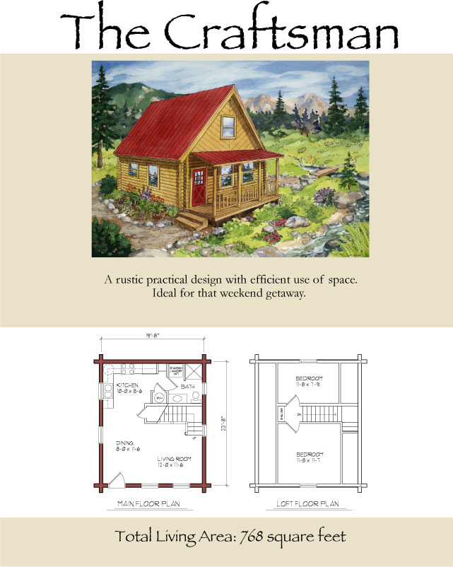 The Craftsman Cabin Floor Plan in Bear Lake Utah
