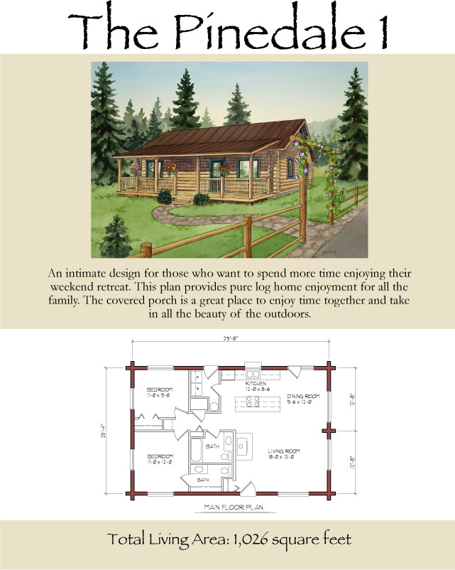 The Pinedale timber lodge floor plans